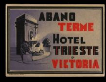 Art deco style Hotel label luggage labels  Italy  #142
